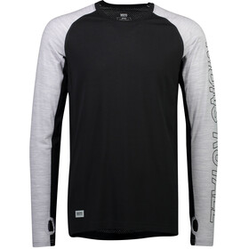 Mons Royale Temple Tech LS Shirt Men black/grey marl